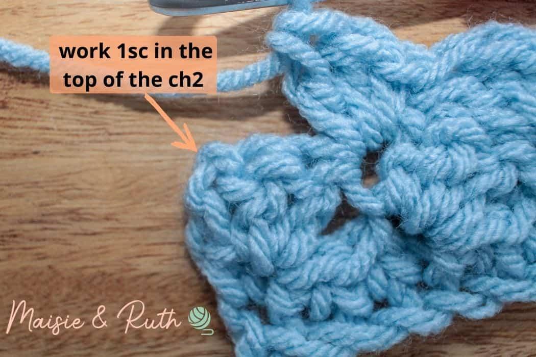 Barclay Baby Blanket step 3f