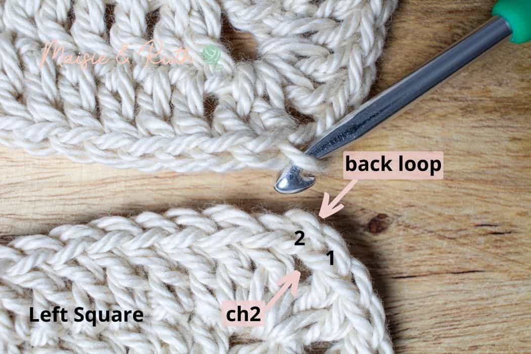 Join Granny Squares Step 3a