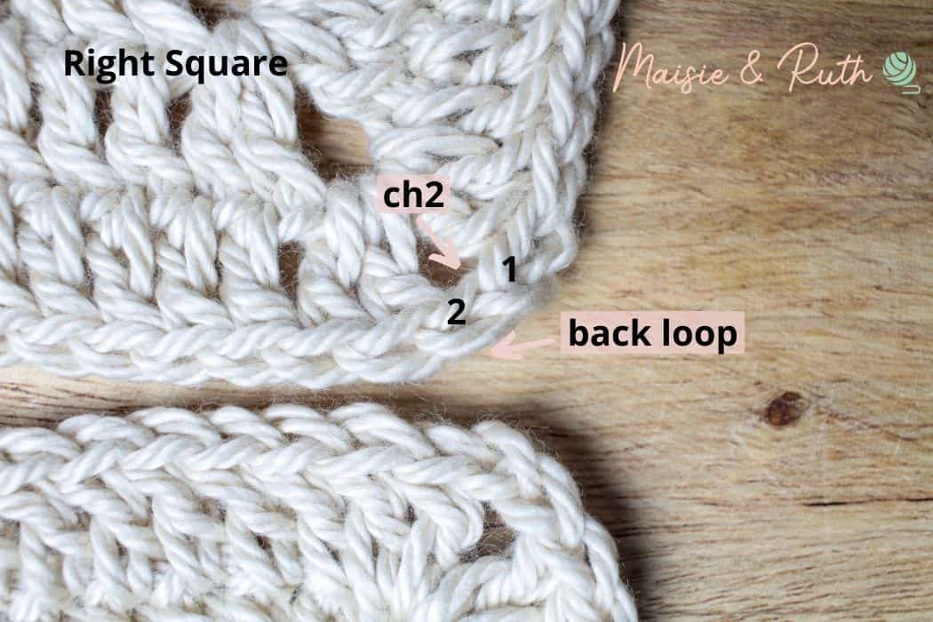 Join Granny Squares Step 2a