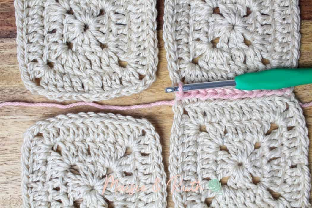 Join granny squares step 11