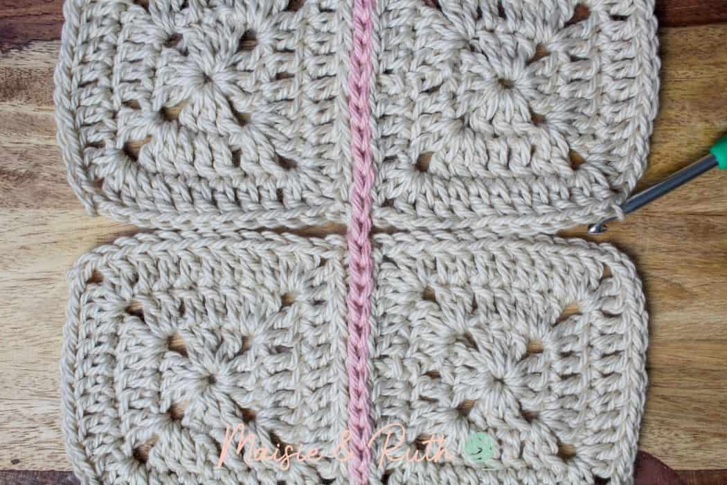 Join granny squares step 14c