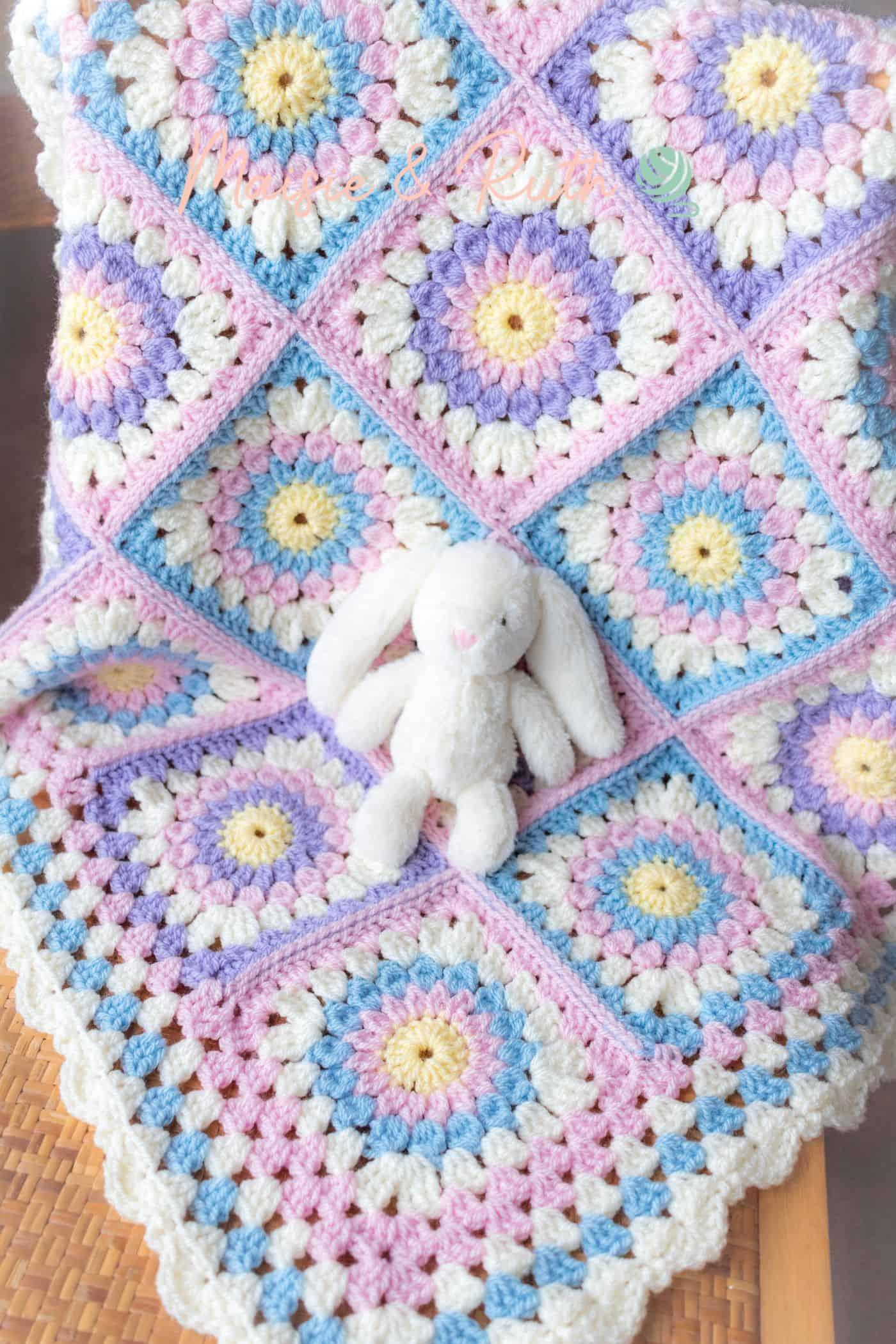 Paisley Baby Blanket Finished Photo 1