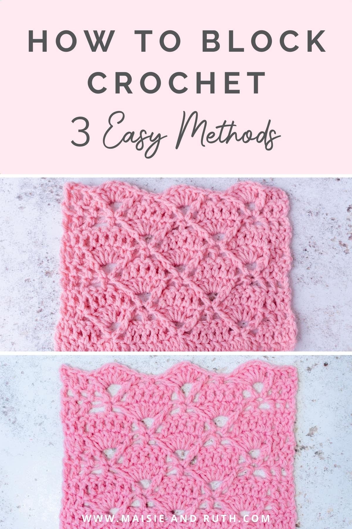 Block Crochet Pin Design 1