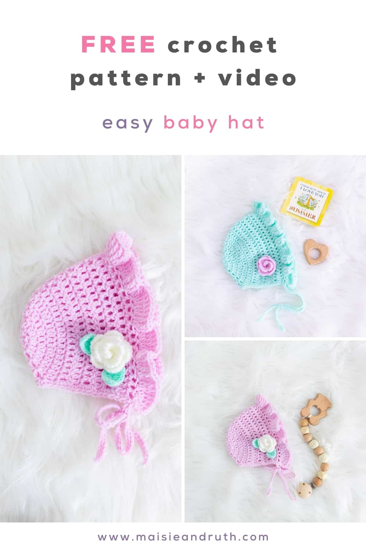 Bluebell Crochet Baby Hat