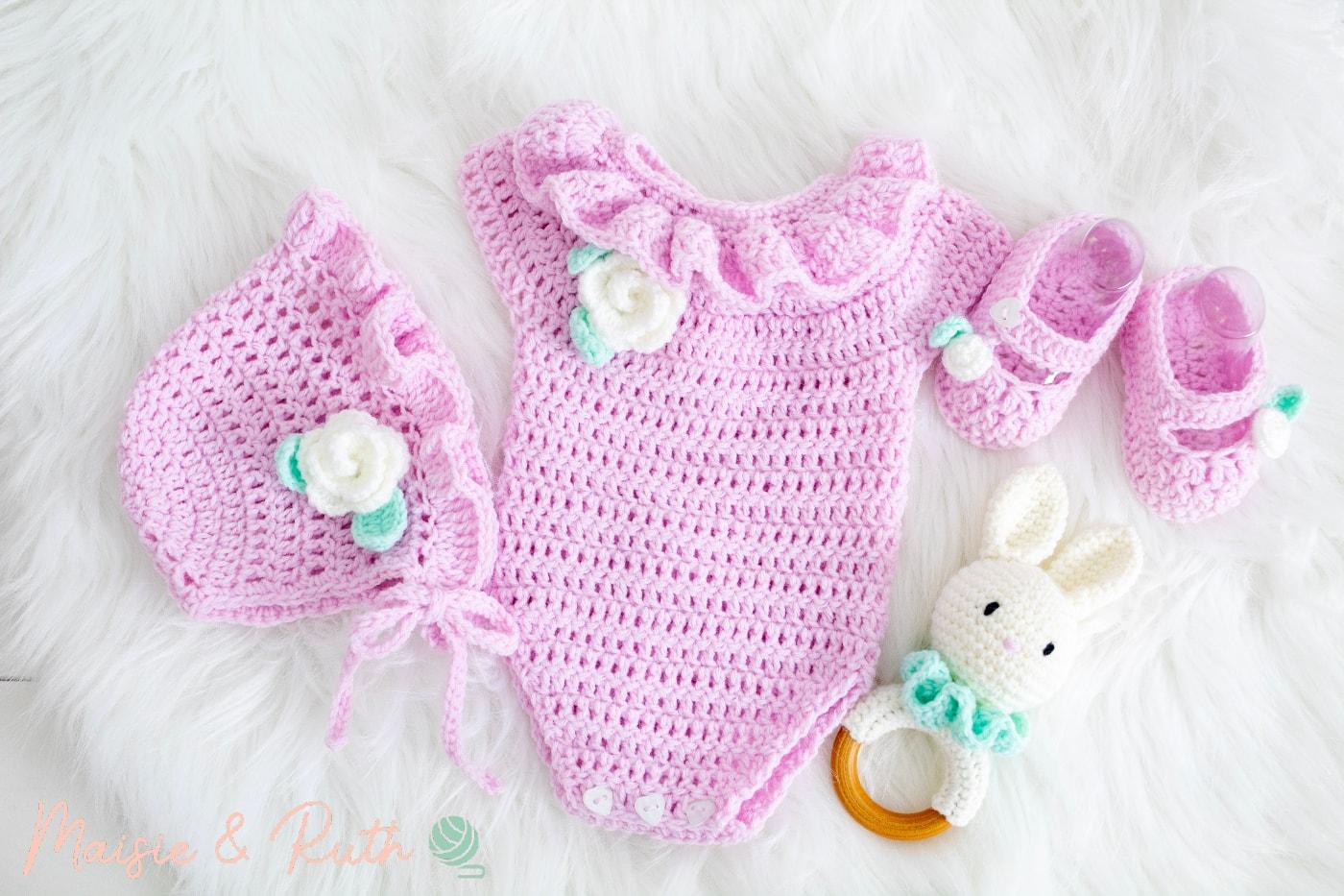Crochet Baby Hat Pattern Baby Set Items