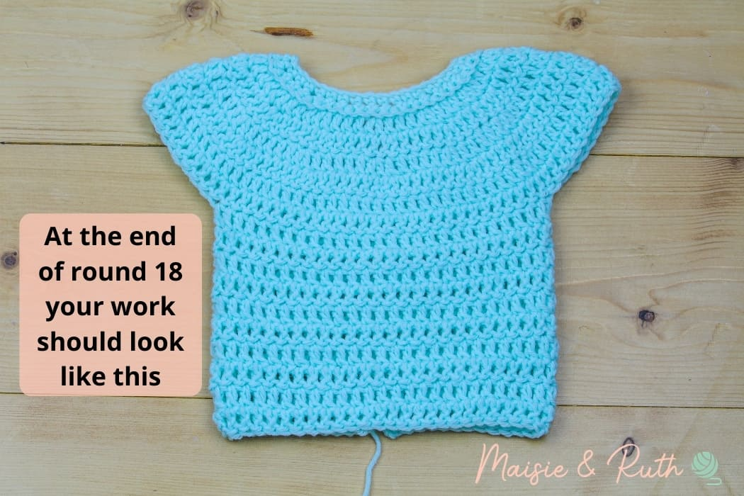 Crochet Baby Romper Middle Section