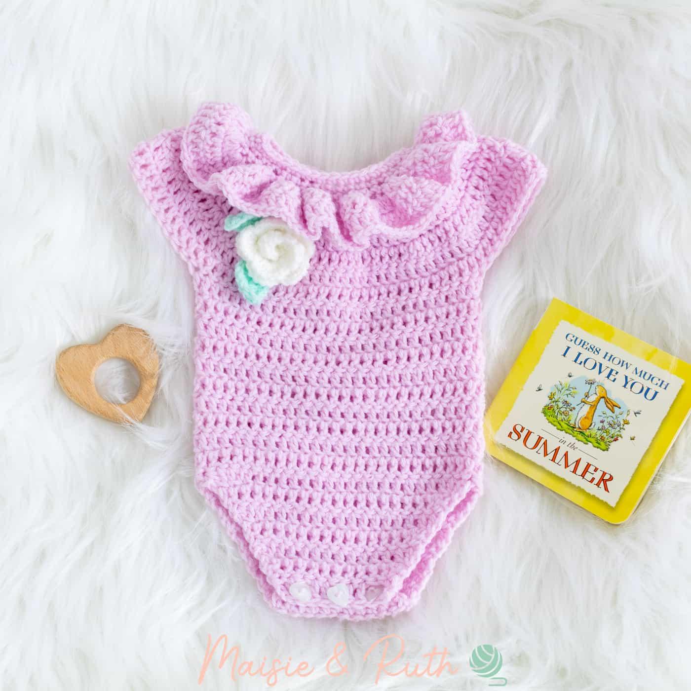 Crochet Baby Romper with Baby Book