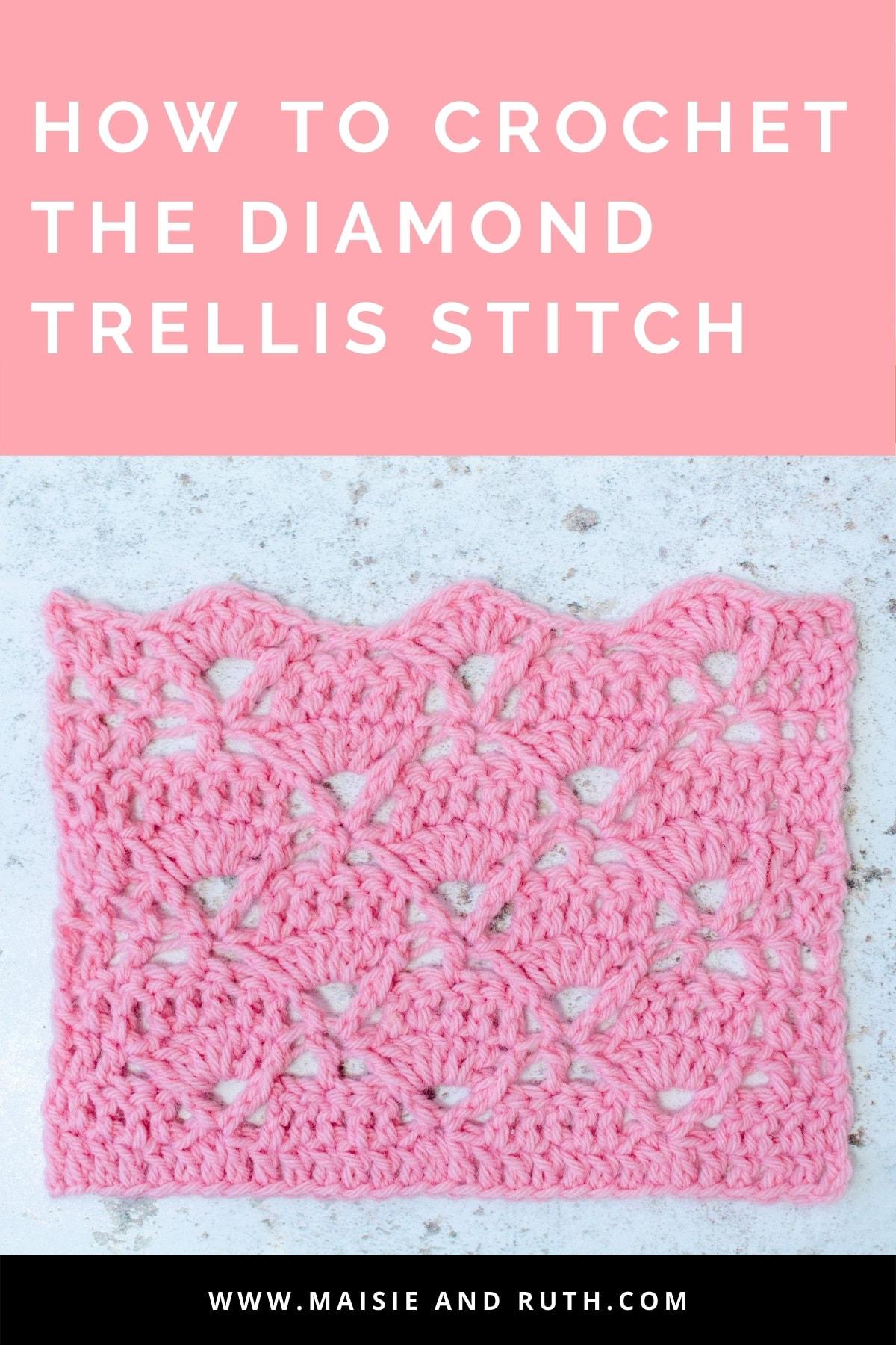Diamond Trellis Stitch Pin Design 1