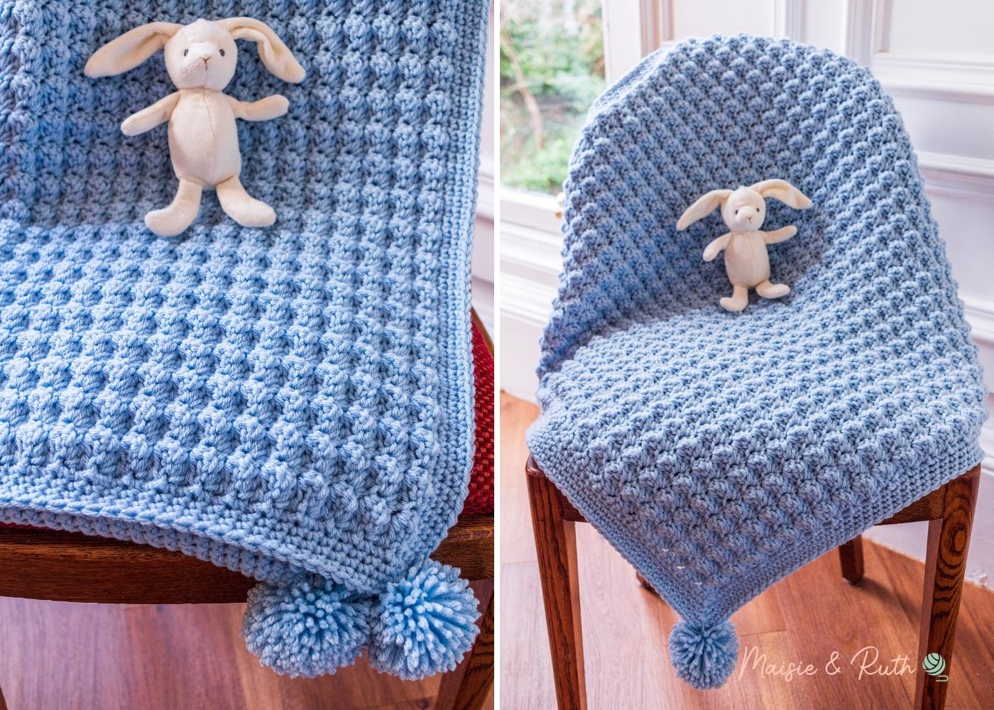 Easy Crochet Baby Blanket Collage 2