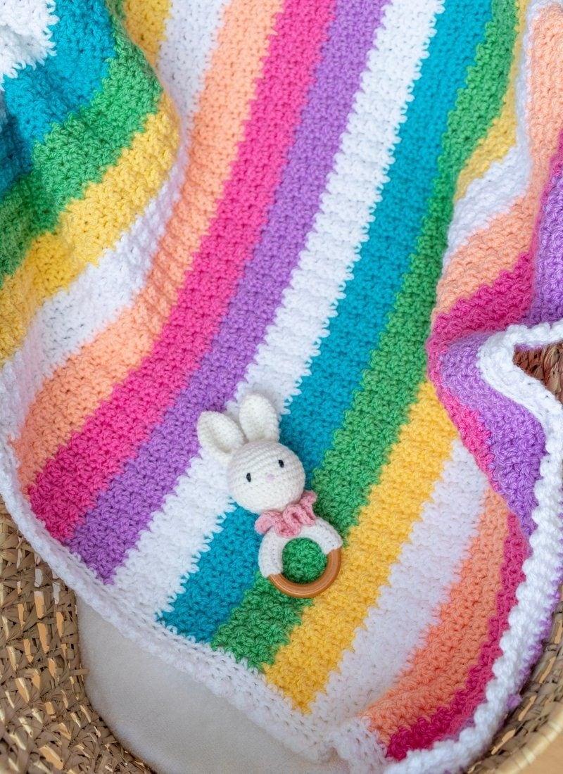 How to Crochet A Baby Blanket (The Robina Rainbow Blanket)