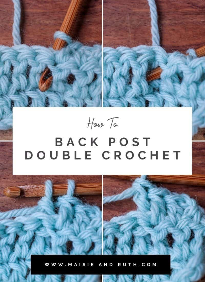 The Back Post Double Crochet (Step-by-Step Tutorial)