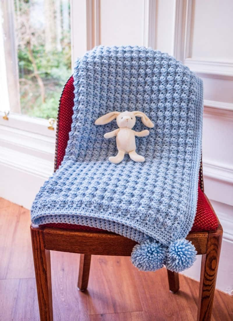 Easy Crochet Baby Blanket (The Barclay Baby Blanket)