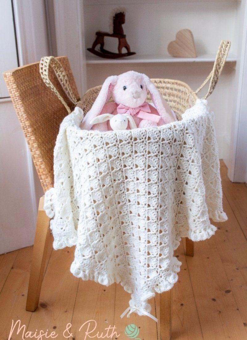 Crochet Baby Blanket Pattern (The Bonnie Blanket)