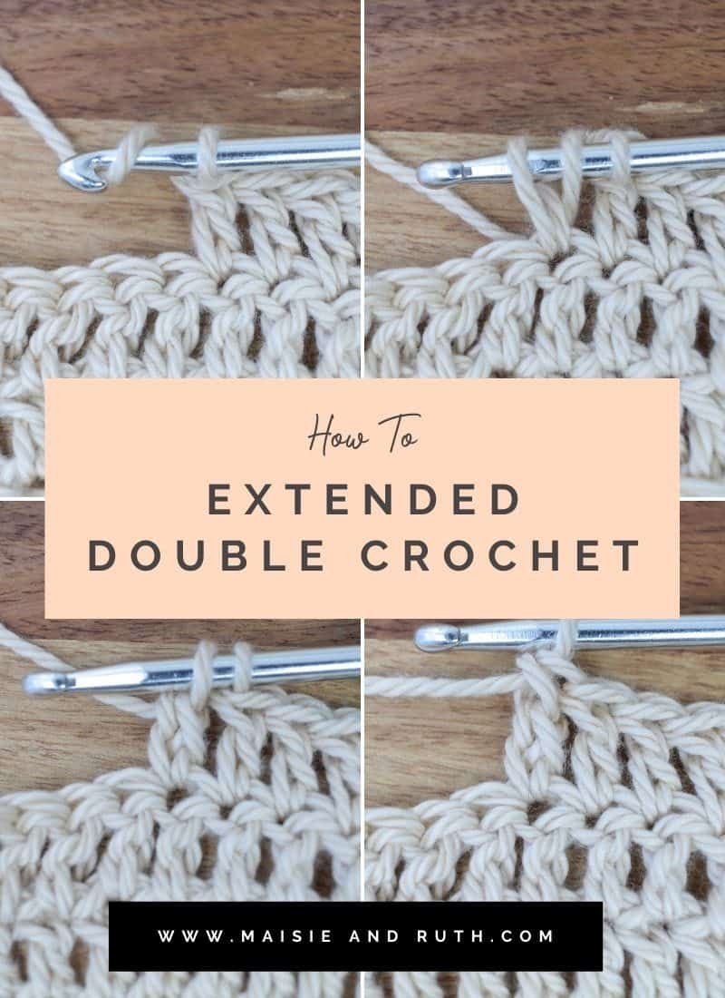 The Extended Double Crochet Stitch (Step-by-Step)