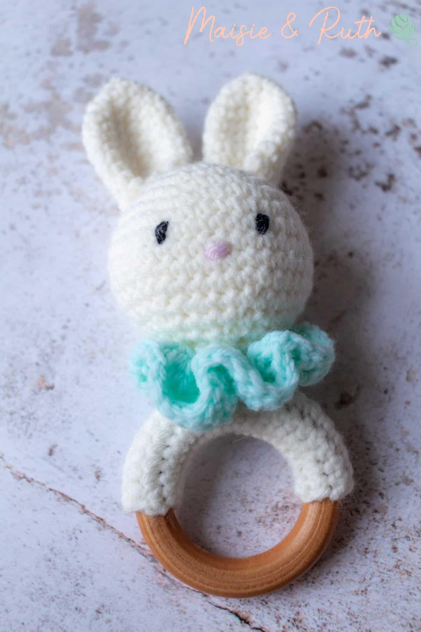 Free Crochet Amigurumi Pattern Bunny on Speckled Flaylay