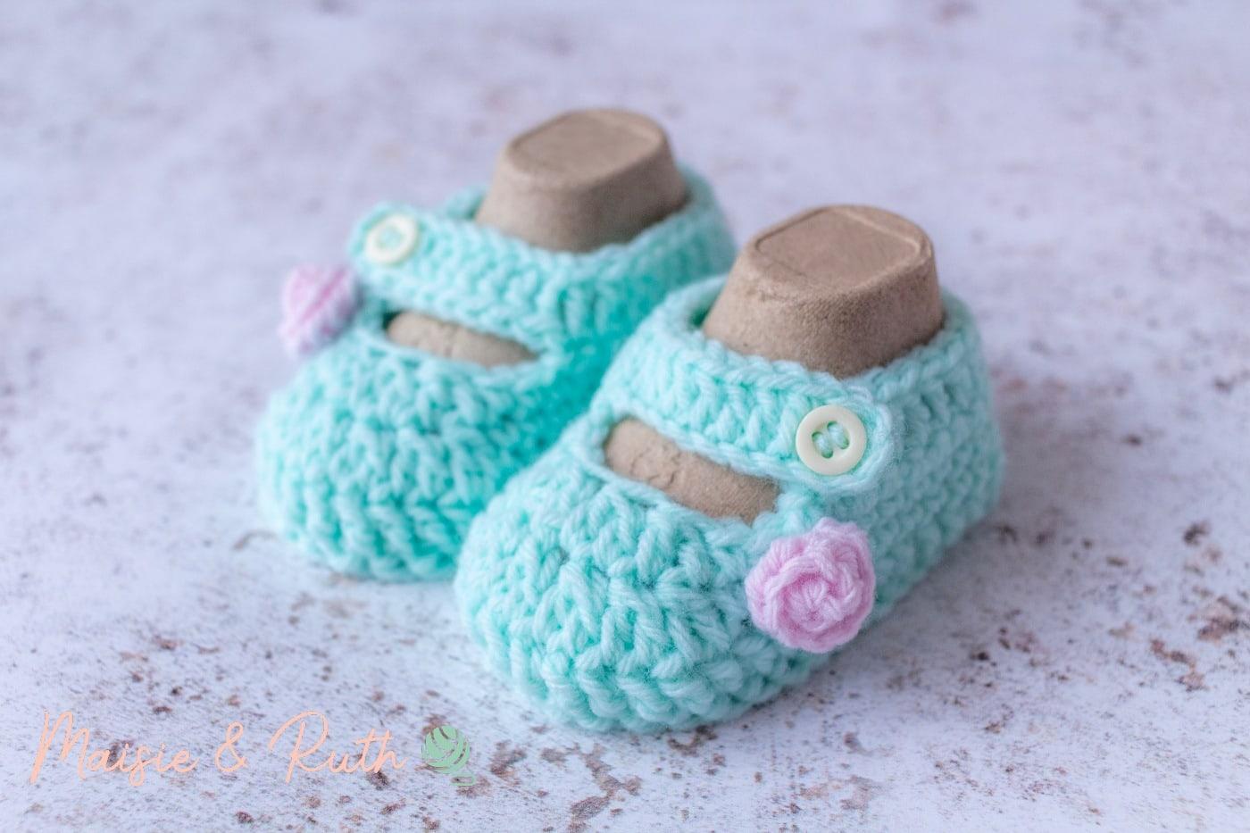 Crochet Baby Booties Pattern Final Image 1