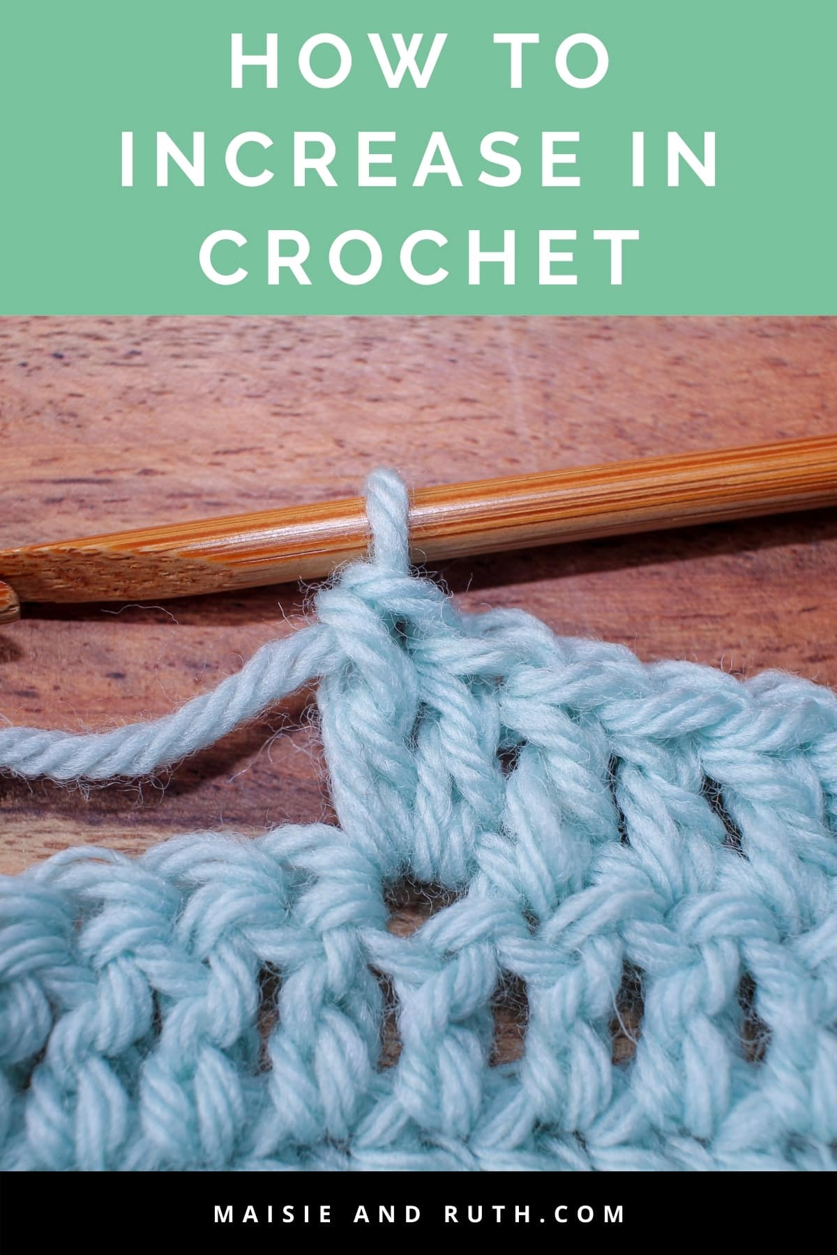 How to Increase in Crochet Pin 1