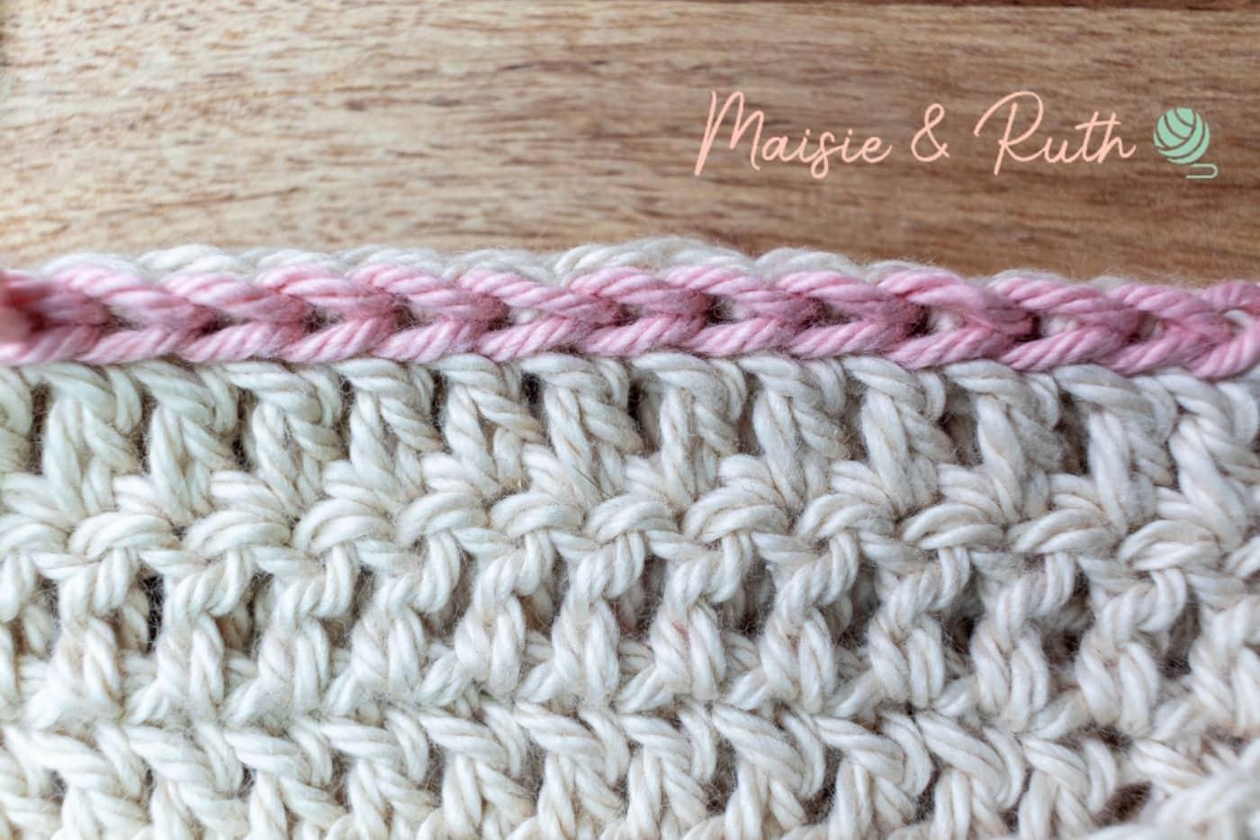Slip Stitch Crochet Seam Final Image