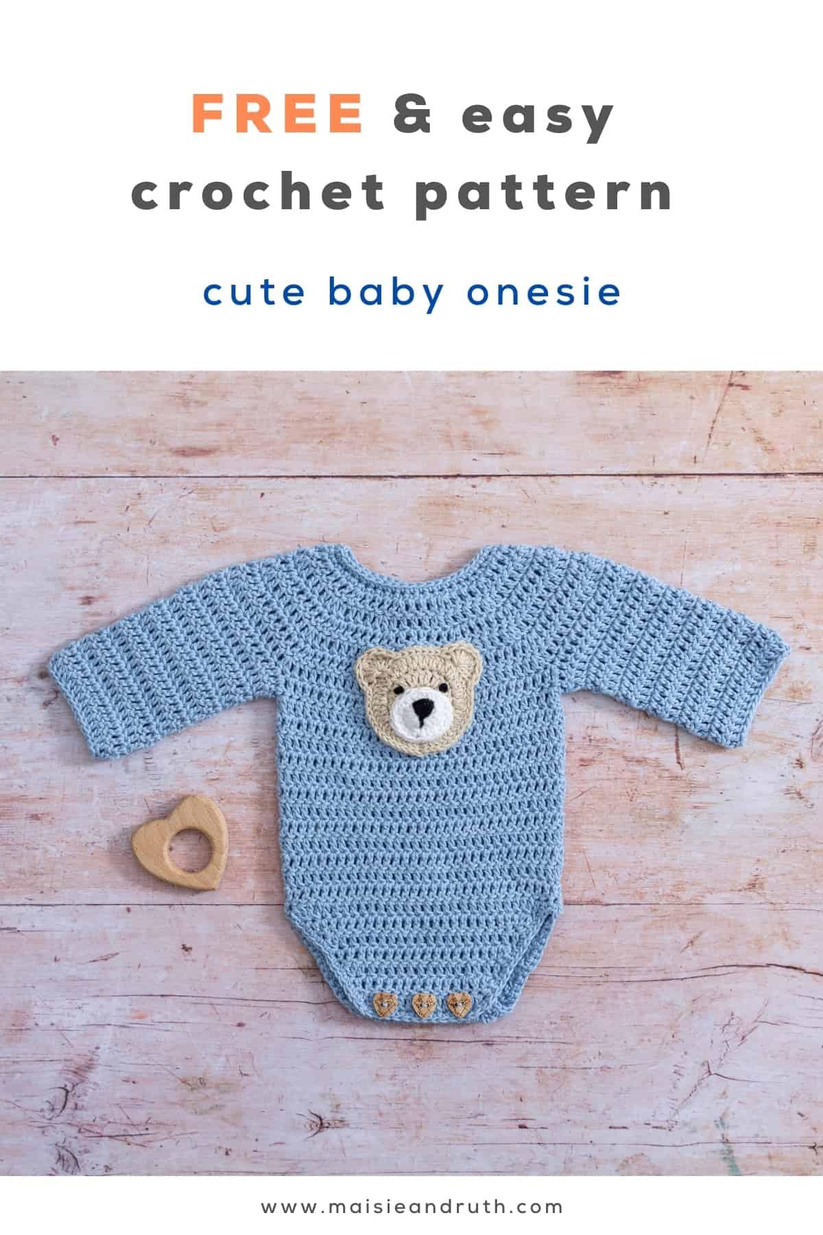 Crochet Baby Romper Free Pattern Pin 2
