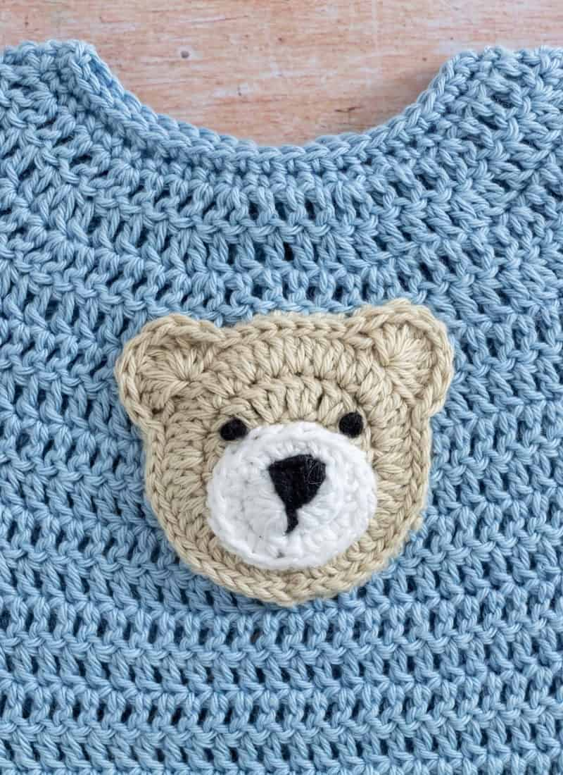 How to Crochet Bear Applique (Cute, Fast & Easy)