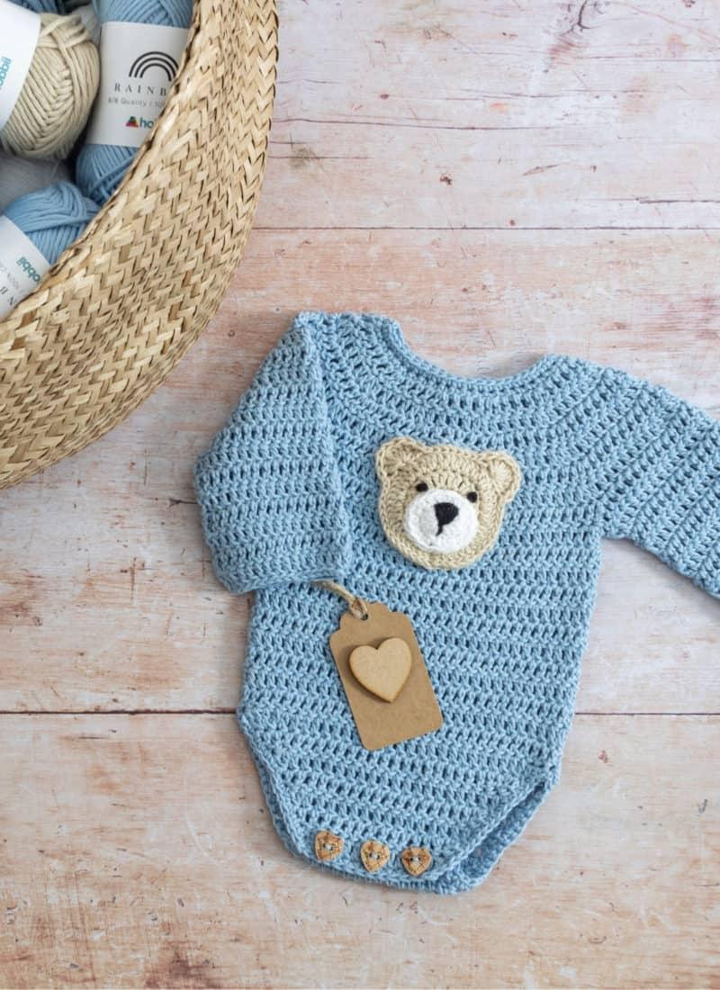 Crochet Baby Onesie Pattern (The Little Logan Romper)