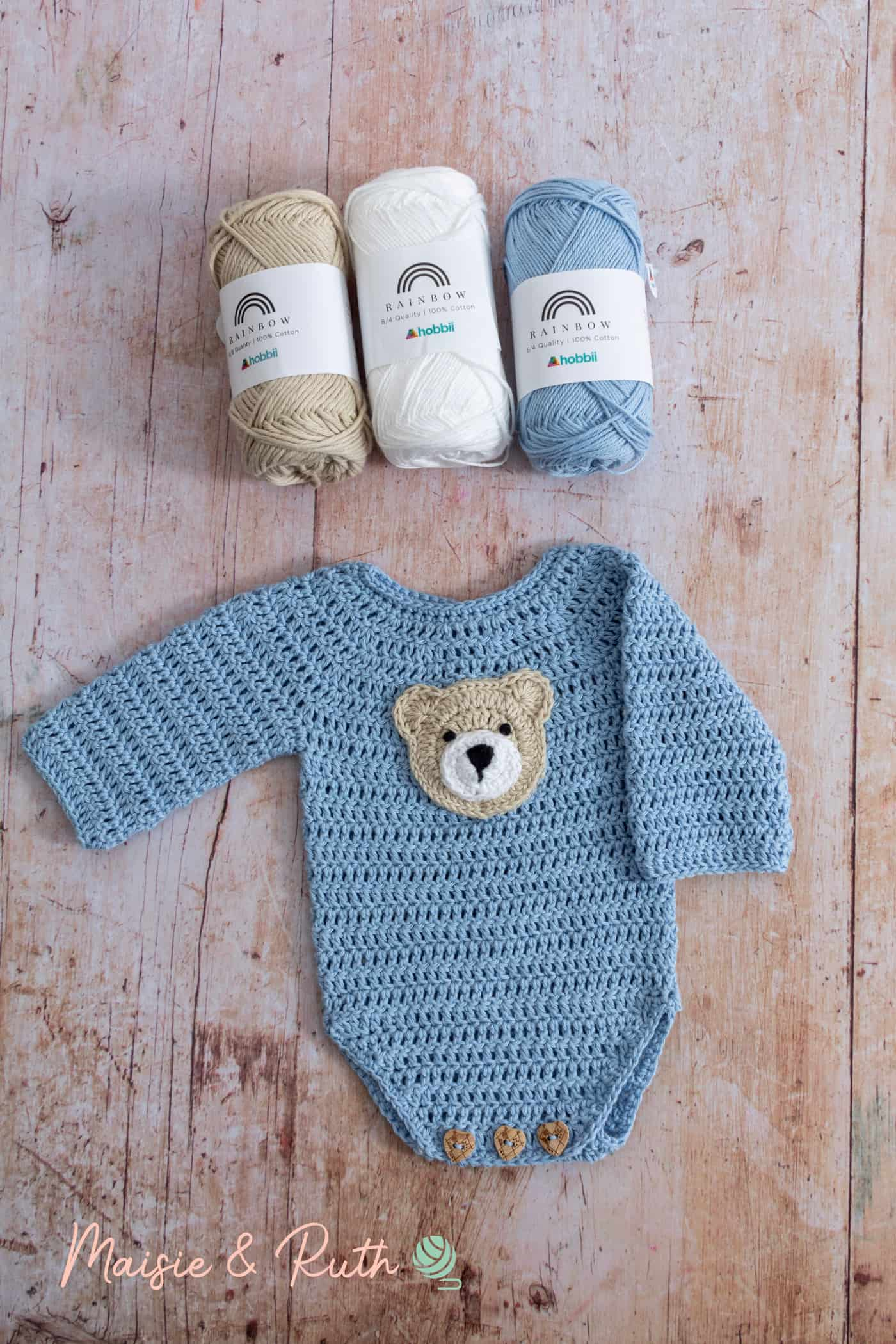 How to Crochet Bear Applique with Yarn