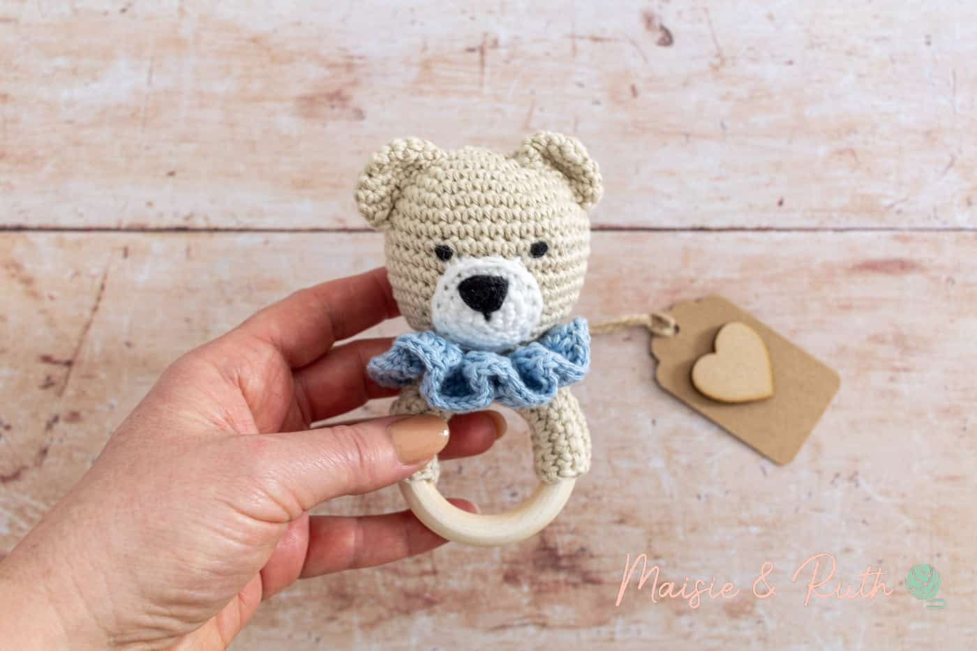 How to Crochet a Baby Rattle with gift tag