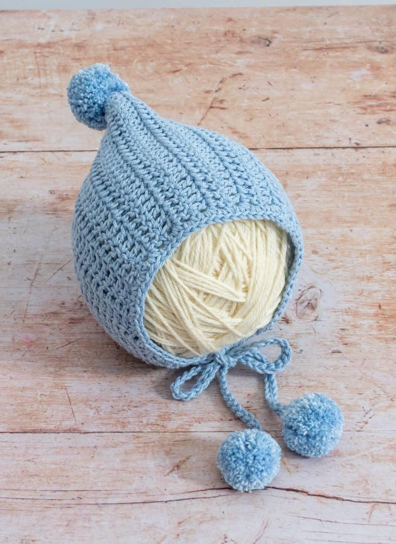 Easy Crochet Baby Bonnet Pattern (Sweet Pixie Hat)