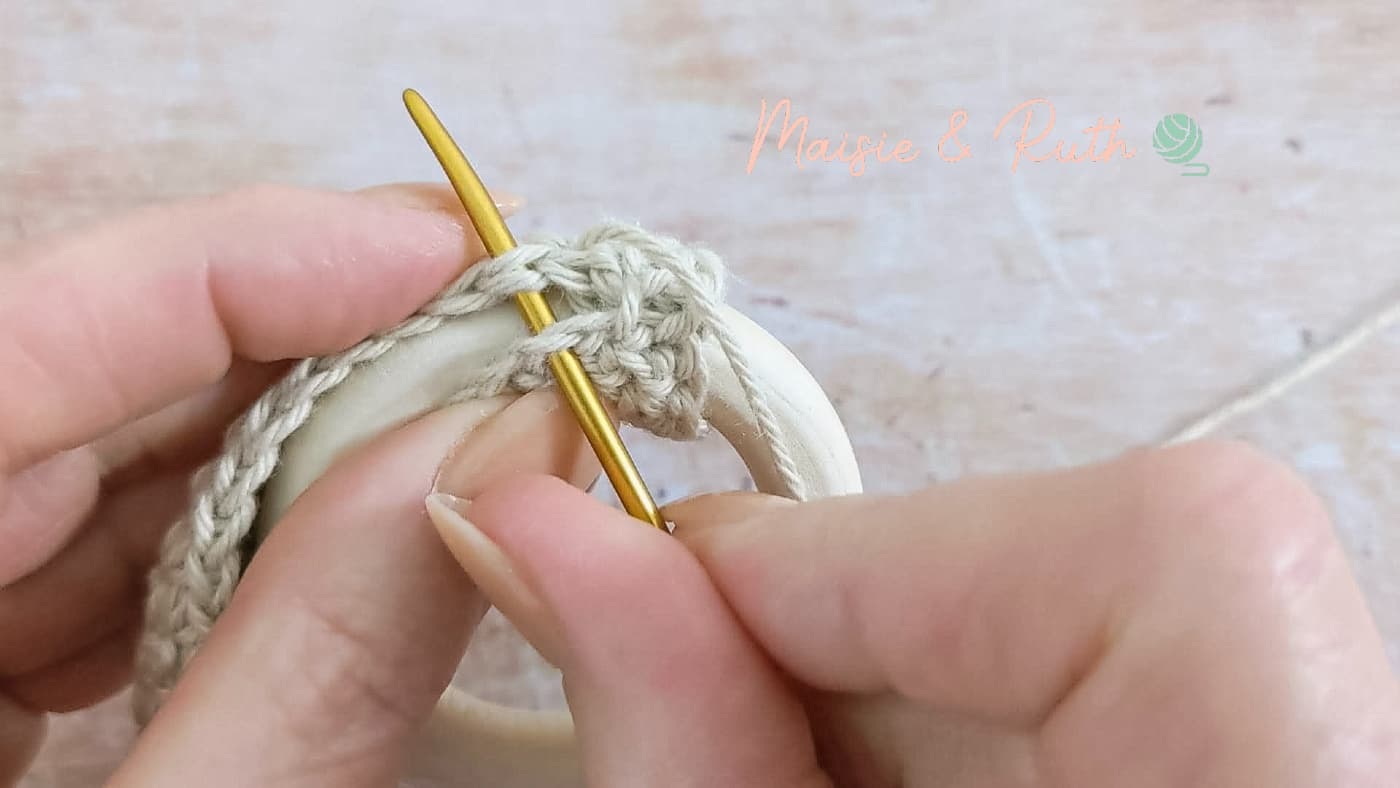 sewing cover onto ring