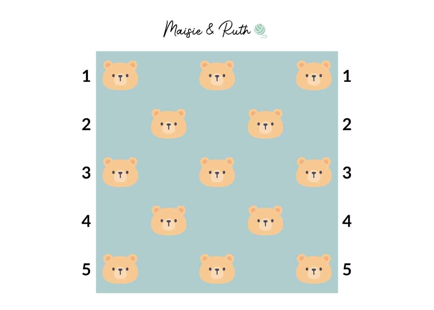 Bear Blanket Arrangement of Squares v.2