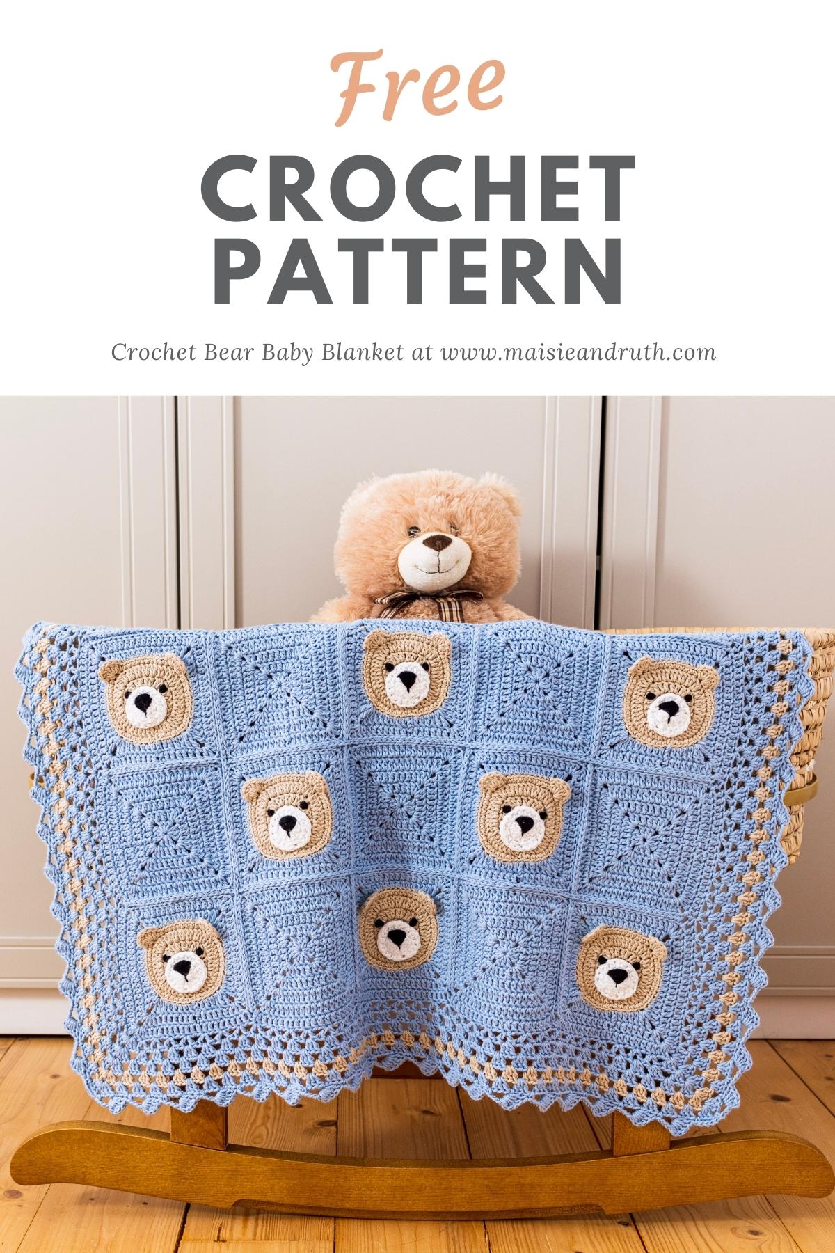 Free Crochet Pattern Bear Baby Blanket Pin 3