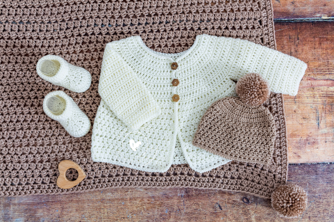Baby Booties with matching items