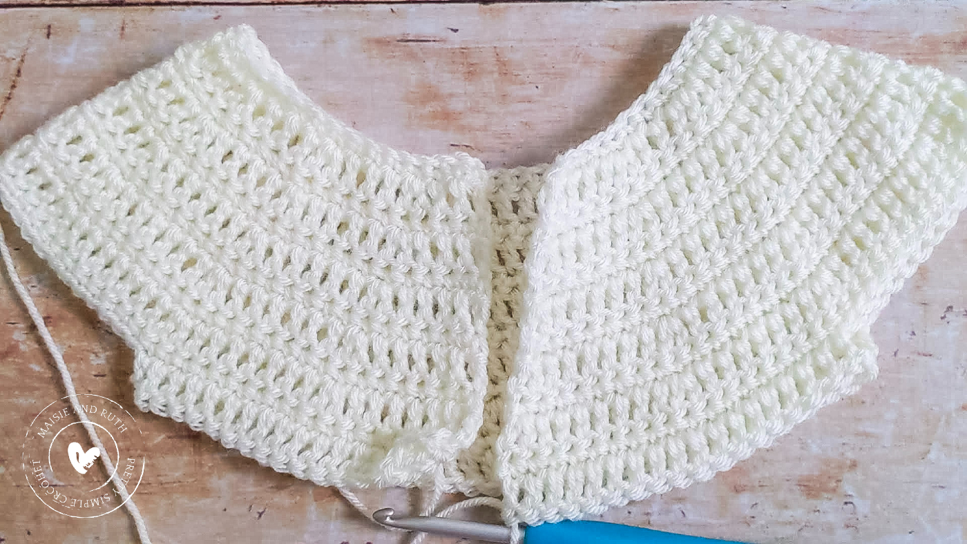 Crochet Baby Cardigan Pattern After Row 12